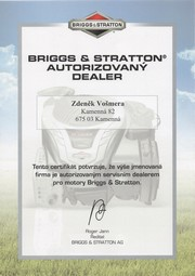 Autorizovaný dealer Briggs & Stratton